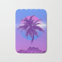 Vaporwave Palm Tree Bath Mat