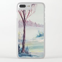 Winter Glow Clear iPhone Case