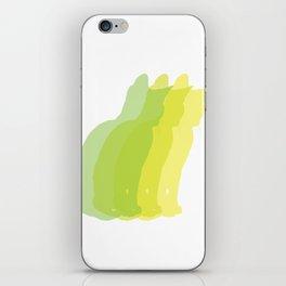 Multiple silhouette cat print - greens iPhone Skin