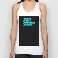 dungeons and dragons Tank Tops featuring Dungeons & Dragons & Swag by Tuff Industries