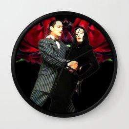 Gomez and Morticia Thorny Heart Wall Clock