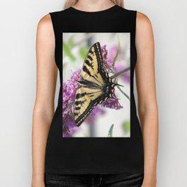 Western Tiger Swallowtail on the Neighbor's Butterfly Bush Biker Tank