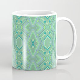 Green and Blue Composition Watercolor Coffee Mug