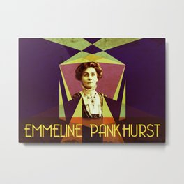 Emmeline Pankhurst Portrait Metal Print