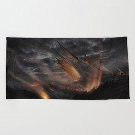 volcano Beach Towel