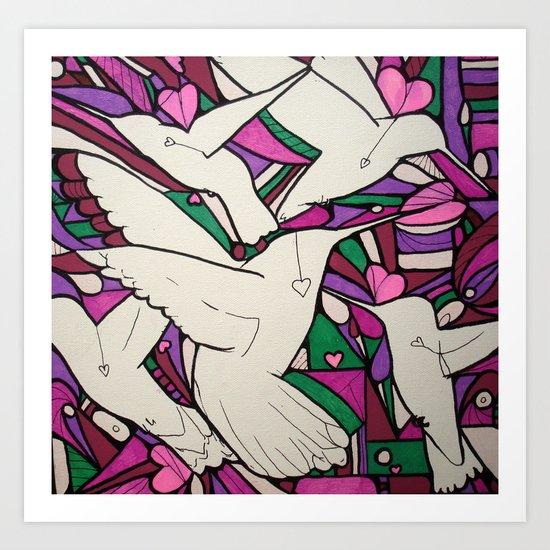 Lovingbirds Art Print