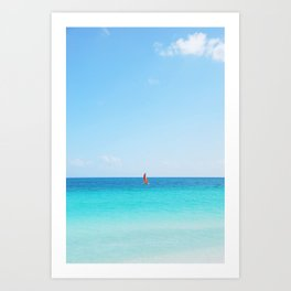 65. Lonely boat, Cuba Art Print