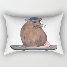 Skateboard Rat I Rectangular Pillow