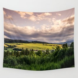 Sunset Hills Landscape Wall Tapestry
