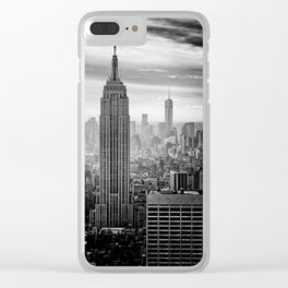 Black and White NYC Clear iPhone Case