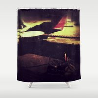 banjo Shower Curtains featuring Banjo by Peacockbutterfly  Art