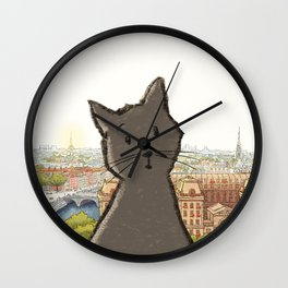 City Cat Wall Clock