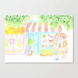 Cafe Date Canvas Print