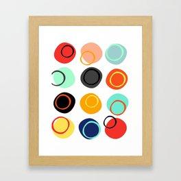 Color Drop Framed Art Print