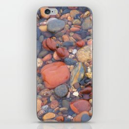 Beach Stones Along Lake Superior iPhone Skin