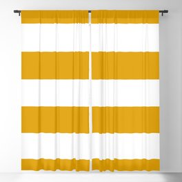 Golden Honey and White Large Stripes Pattern Blackout Curtain