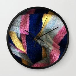 Multicolor Stripe Textile Wall Clock