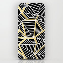 Ab Lines 2 Gold iPhone Skin