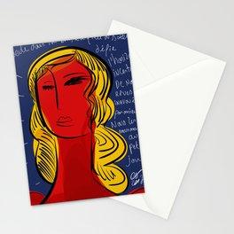 La fille du soleil Stationery Cards