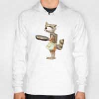 rocket raccoon Hoodies featuring Rocket Raccoon by Negative Dragon