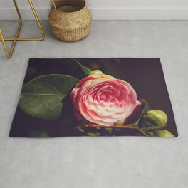 Japanese Camellia flower - Nature Photography Rug