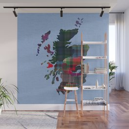 Scotland Counties Fabric Map Art Wall Mural