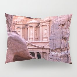 Petra Al Khazneh Treasury Temple Ruins by Day Pillow Sham
