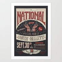 the national Art Prints featuring The National by Jon Contino