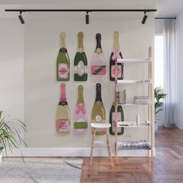 French Champagne Collection – Pink & Green Wall Mural