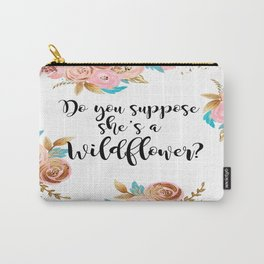 Blush and gold wildflower Carry-All Pouch