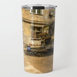 Old Yellow Bus House Travel Mug