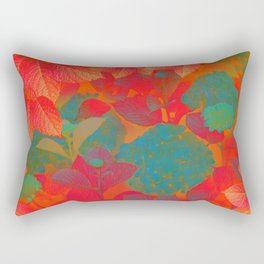 """Intense Pastel Hydrangeas-Passion"" Rectangular Pillow"