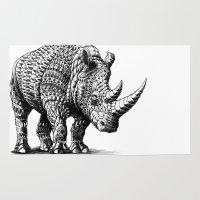 bioworkz Area & Throw Rugs featuring Rhinoceros by BIOWORKZ