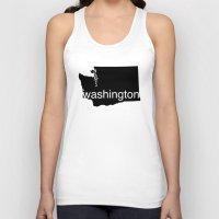 washington Tank Tops featuring Washington by Isabel Moreno-Garcia