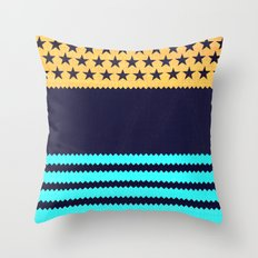My US Flag & Jeans Throw Pillow