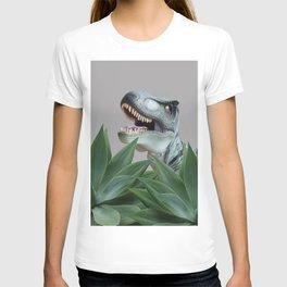 Tyrannosaurus Dinosaur between Agave Leaves T-shirt