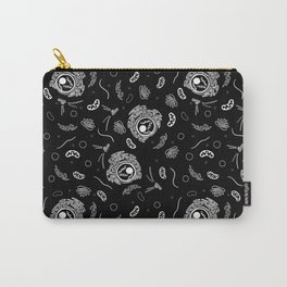 Organelles - White on Black Carry-All Pouch
