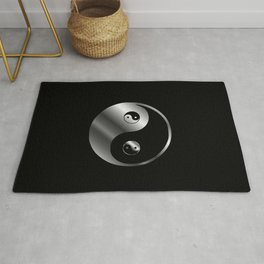 Ying yang the symbol of harmony and balance- good and evil Rug