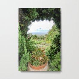 A Peek with a View Metal Print