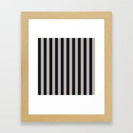 Vertical Stripes Black & Warm Gray Framed Art Print