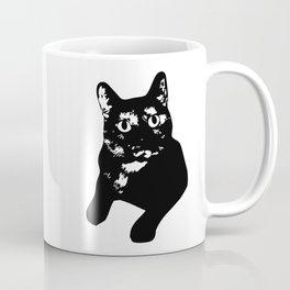 Graphic Cat   Black & White Coffee Mug