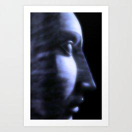 Dreaming in a blue world Art Print