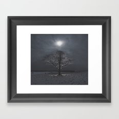 Snow Moon Framed Art Print
