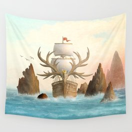 The Antlered Ship - Jacket Wall Tapestry