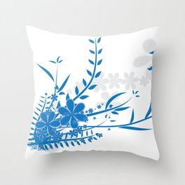 Flower illustration Throw Pillow