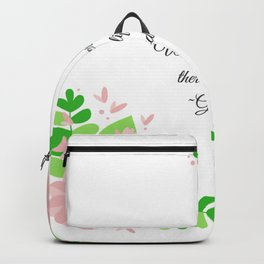 Where there is love there is life Gandhi Backpack