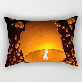 Lantern Fly Rectangular Pillow