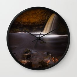 Lady Falls Sgwd Gwladus waterfall Wall Clock