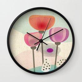 Naive Blooms Wall Clock