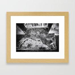 Slab Framed Art Print
